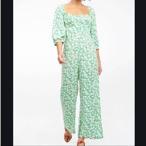 Capulet Manzanita Apple Green Floral Jumpsuit